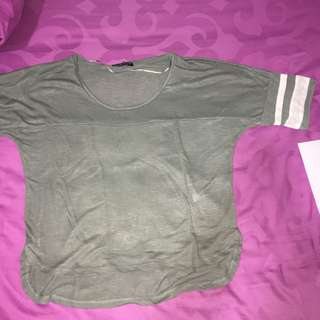 Cotton On Olive Green Jersey Shirt