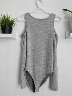 Open shoulder body suit