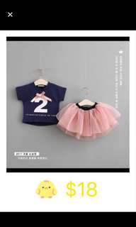 Baby girl clothes tutu pants set