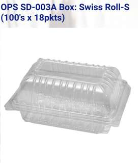 Swiss Roll Plastic Box