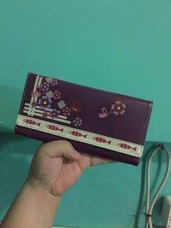 Violet / Purple Butterfly Trifold Wallet