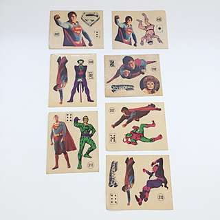 Lot of 25 Pcs Vintage SUPERMAN Taktik Stickers Numbered Trading