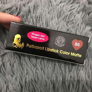 Purbasari lipstick color matte no.86