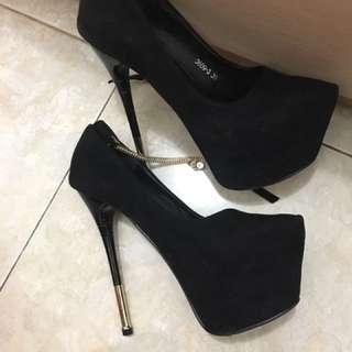 Black heels 16 cm