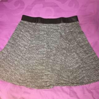 H&M Leather Grey Skirt