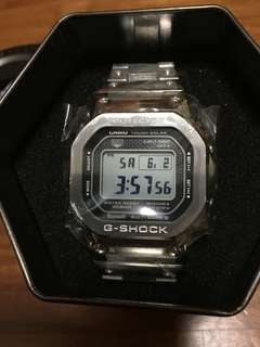 Casio G-Shock Full Metal Square Stainless Steel Silver GMW-B5000-1 Watch
