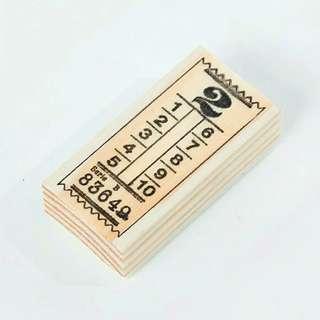 Bus ticket wooden stamp