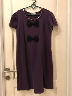 Purple pearly dress - baju hamil
