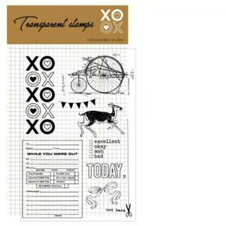 Xoxo clear stamp