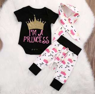 I'm Princess Baby Clothing Set