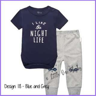 Pre Order * Baby clothes set (long sleeve + pants)