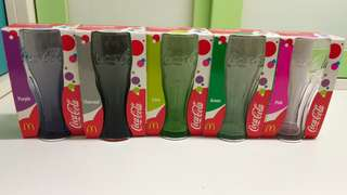 可口可樂x麥當勞 玻璃曲線杯 多色超抵