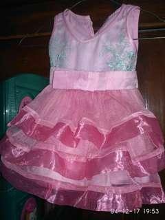 Dress pesta baby 6-9m