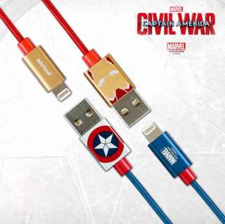 MarveCaptain Amercian USB iPhone cable