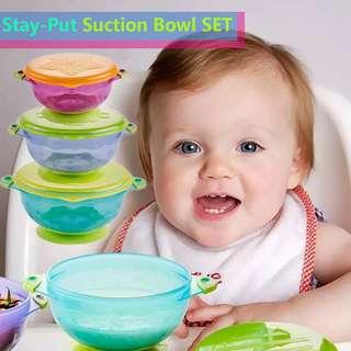 Stay-Put Suction Bowl Set