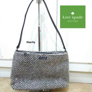 AUTHENTIC KATE SPADE TWEED CANVAS , MEDIUM  SHOULDER TOTE BAG