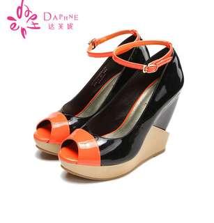 🚚 Daphne/達芙妮女鞋13款色拼接涼鞋高跟糖果色涼鞋 零碼 挑戰最低價 任選3雙免運費