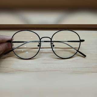 frame bulat garis (frame + lensa)