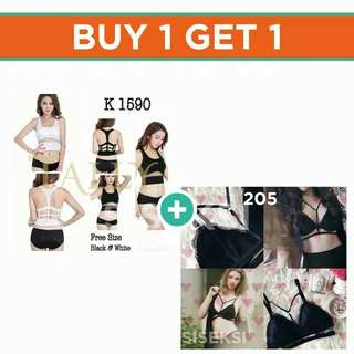 (BUY 1 GET 1) Sport silang FREE Bralette sexy