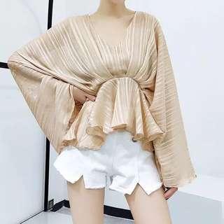 🔱 (More cols) sheerly mason drape Kimono Blouse