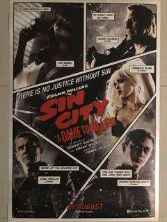 Frank Miller's Sin City A Dame to Kill For Movie Poster