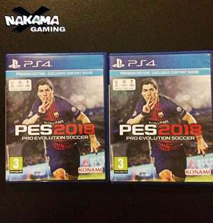PES 2018 used for sale
