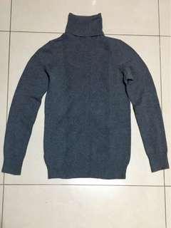 Mango Gray Turtle Neck Knit Sweater