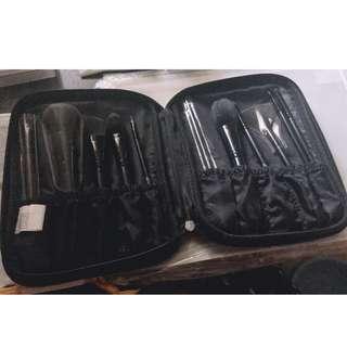 brushes and eyelash curler