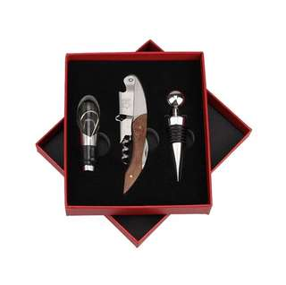 Wooden Opener 3 Piece Set in Red gift Box