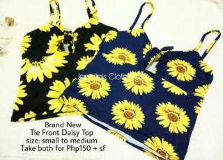 Tie Front Daisy Top (swipe ➡ for when worn)