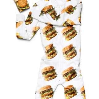 McDonald's Mcdelivery X Uber Eats Ubereats World Famous Collection Onesie One Piece Jumpsuit Playsuit Romper Track Suit Tracksuit Burger Big Mac Lounge Pants Mcdonalds