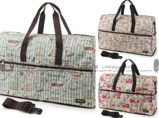 韓國連線預購限時團SNOOPY 可插行李桿 輕便摺疊防潑水 斜背手提旅行袋