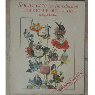SOCIOLOGY: AN INTRODUCTION By Christopher Bates Doob