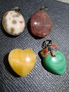 Assorted Natural Healing Crystal Pendants