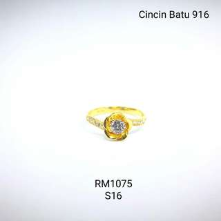 Cincin Emas 916