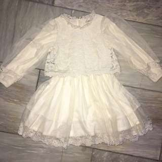 Vintage Lace Dress For Kids 3-5 Years Old 3T To 5T