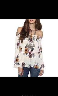 PLUS SIZE Floral Pattern Blouse
