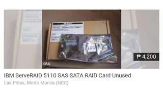 Networking and Servers  IBM ServeRAID 5110 SAS SATA RAID Card Unused