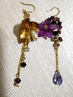 BN Swarovski crystals handmade earring