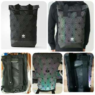 Adidas 3D ROLL TOP BACKPACK ISSEY MIYAKE -  Black & Rainbow (CNY promo price)