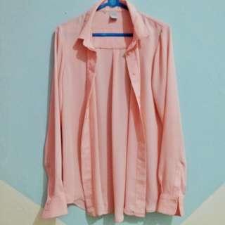 Kemeja H&M Collar Peach