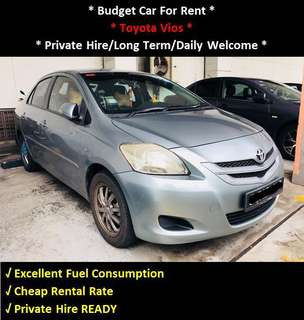 Budget Car Rental - Toyota Vios 1.5 Auto For Rent - Daily / Private Hire Welcome