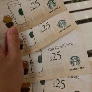Starbucks Coupon 現金劵 星巴克 咖啡 coffee