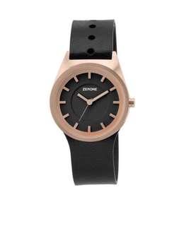 "ZERONE意大利系列Crossover Francesca Gattello&Gianmaria Citron""Asola""黑色模擬手錶配額外皮革錶帶✨全新,有盒✨"