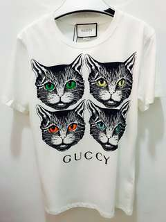 🆕 🎉🛍 Authentic GUCCI Cat Tee