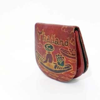 泰國Thailand皮革零錢包 紀念品 包包 皮革 零錢包