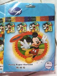 2packs Party Paper Garland Minnie Mouse