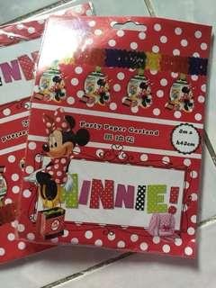 2 packs Party Paper Garland Minnie Mouse