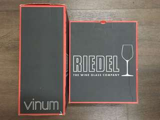 Riedel Vinum Syrah Lead Crystal wine glasses made in Germany 4pcs (2 set) 紅酒杯