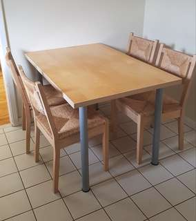 Ikea table and for chairs
